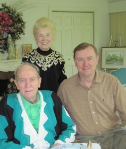 John Hickey, with his wife Mary and son John Jr., at their Dover, Mass., home in 2010.