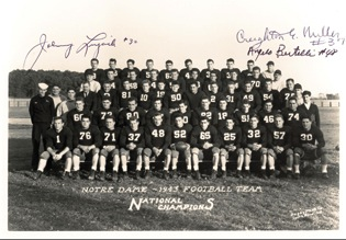 Frank Leahy's 1943 Notre Dame football national champions.
