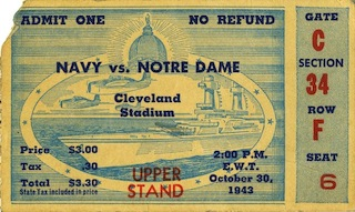 Notre Dame vs. Navy: The first of 4 straight wins over top 10 opponents.