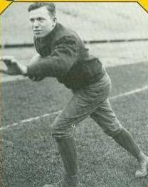ND halfback Christie Flanagan earned All-American honors in 1926 and 1927.