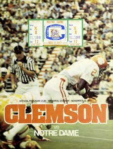 Notre Dame brought a No. 5 ranking in its first visit to Clemson's Death Valley in 1977.