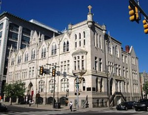 Philadelphia's Roman Catholic High School, at Broad and Vine streets, dates from 1890 and is now designated as a historical landmark.