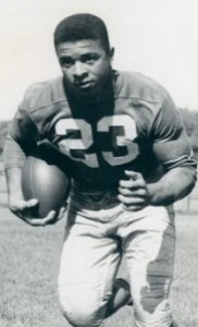 Aubrey Lewis, backup Irish running back in 1957.