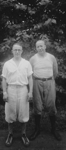 Coach Knute Rockne with Doc Meanwell in the 1920s.