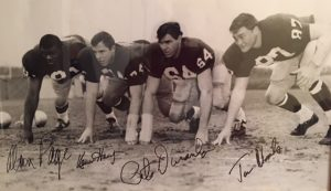 The 1966 Notre Dame Front Four: Alan Page, Kevin Hardy, Pete Duranko, and Tom Rhoads