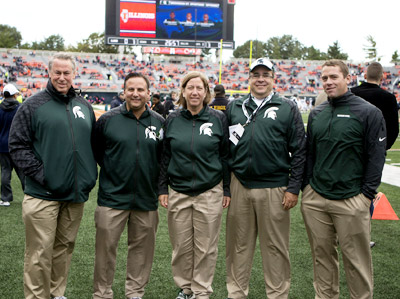 The MSU concussion team includes Dr. David Kaufman, D.O., left.
